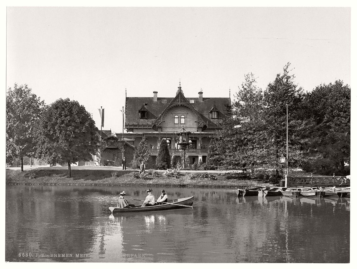 Vintage: historic photos of Bremen, Germany in the late ...