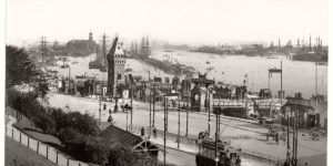 Vintage: historic photos of Hamburg, Germany in the late 19th Century