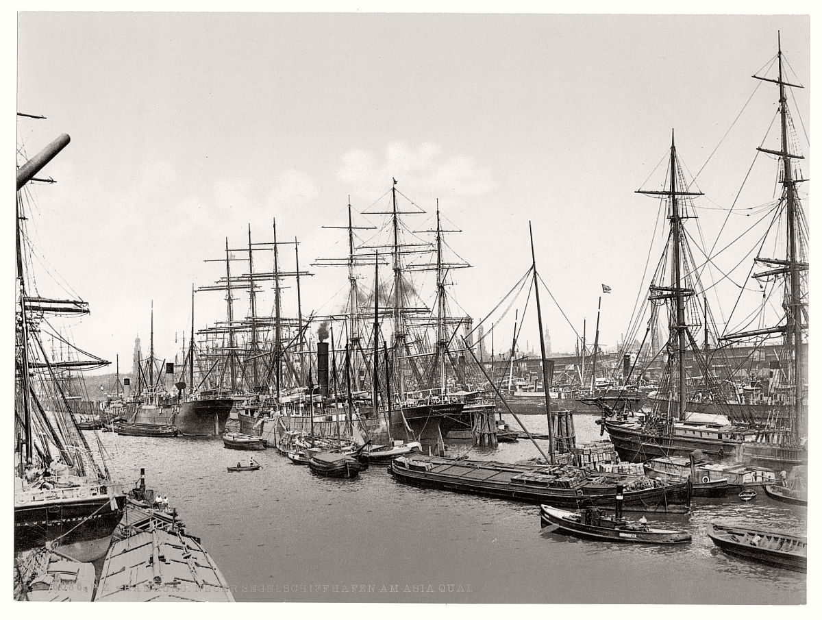 Vintage Historic Photos Of Hamburg Germany In The Late