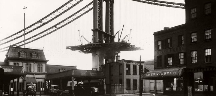 Vintage: Manhattan Bridge Under Construction (New York, 1903-1909)