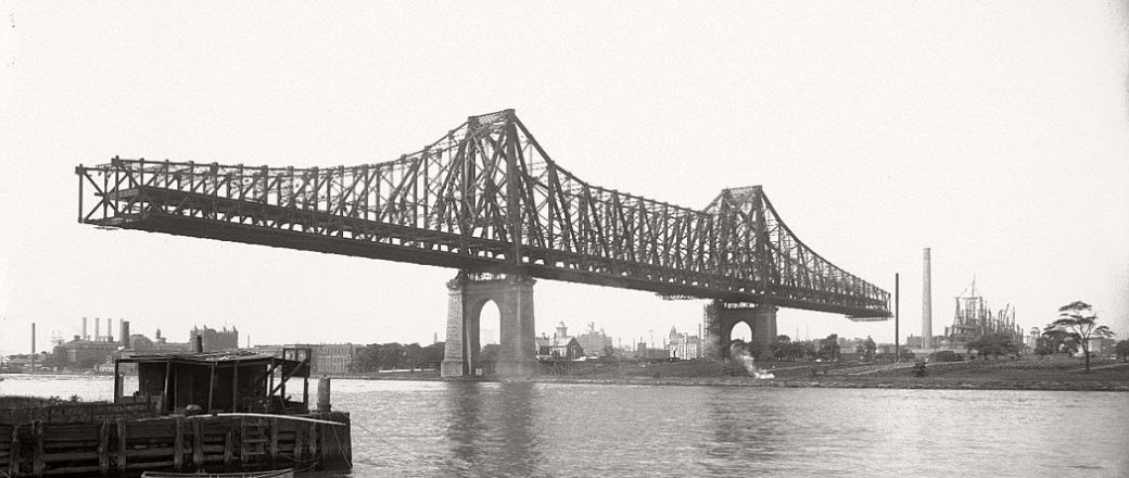 Vintage: Queensboro Bridge Under Construction (New York, 1907-1909)