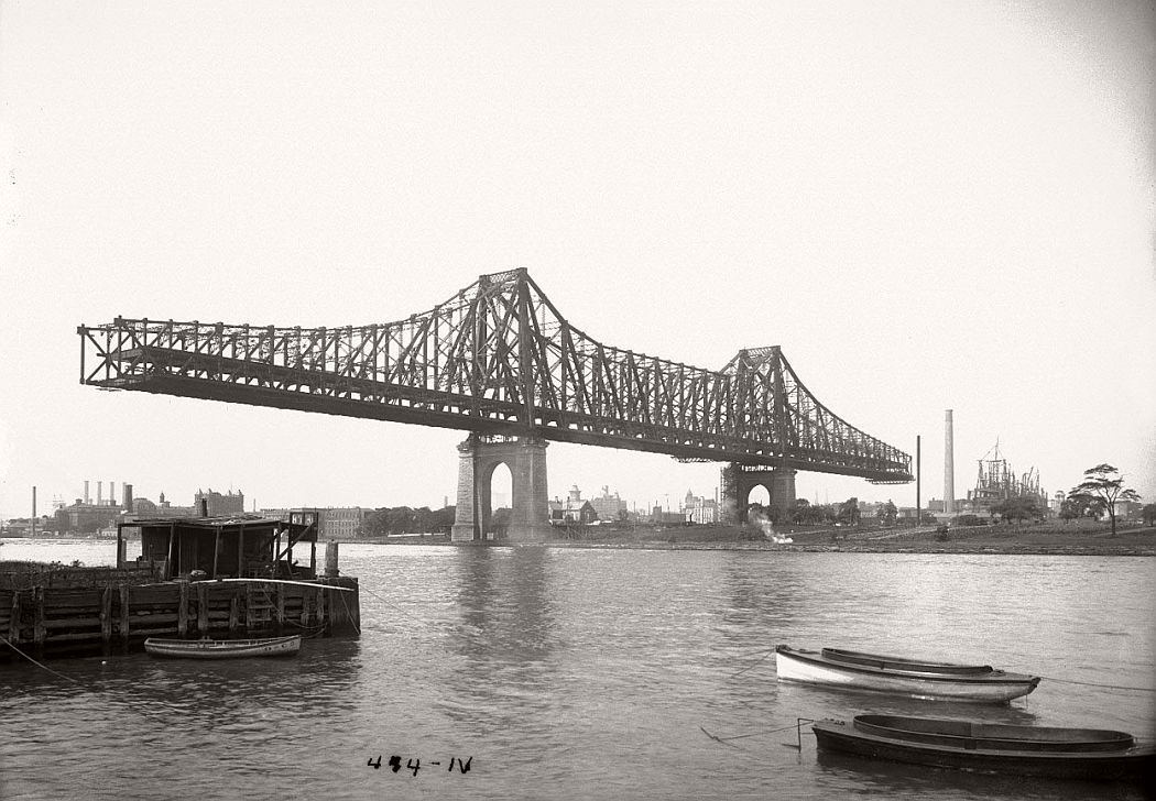 vintage-queensboro-bridge-59th-street-under-construction-new-york-in-1907
