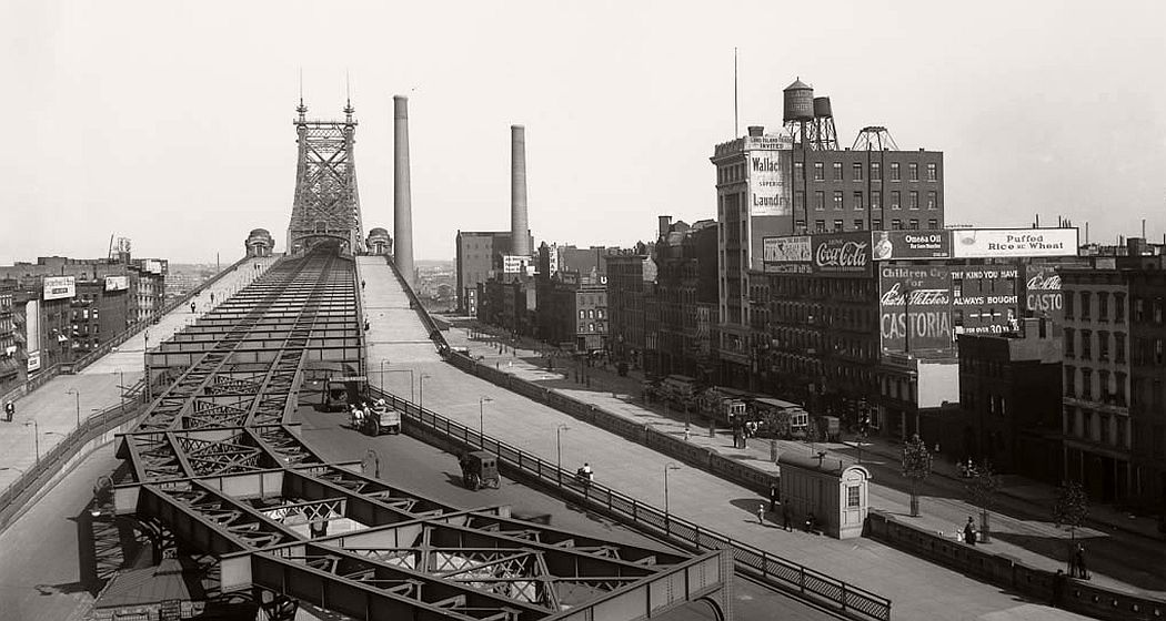 Vintage: Queensboro Bridge, New York in 1914