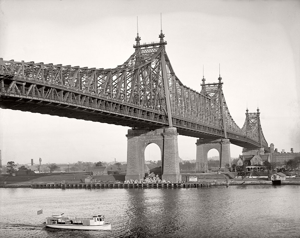 vintage-queensboro-bridge-59th-street-under-construction-new-york-in-circa-1909