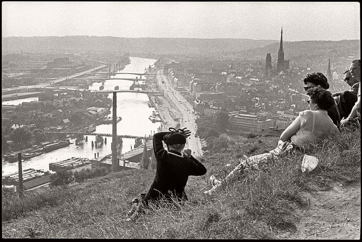 FRANCE. Haute-Normandie. Seine-Maritime. Rouen. The Seine river. 1955.