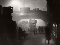 Vintage: London Fog in black and white