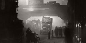 Vintage: London Fog in black and white