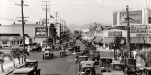 Vintage: Streets of Southern California, USA (1920s)