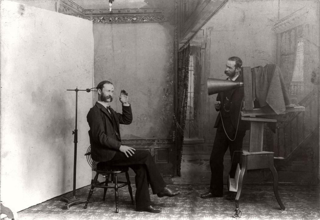19th-century photographic studio