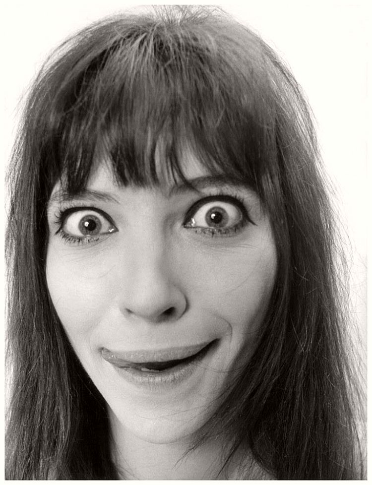 Anna Karina - willy-rizzo-portraits-funny-faces-of-celebrities-1960s