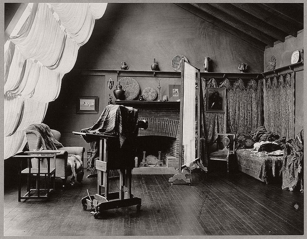 Frances Benjamin Johnston's studio