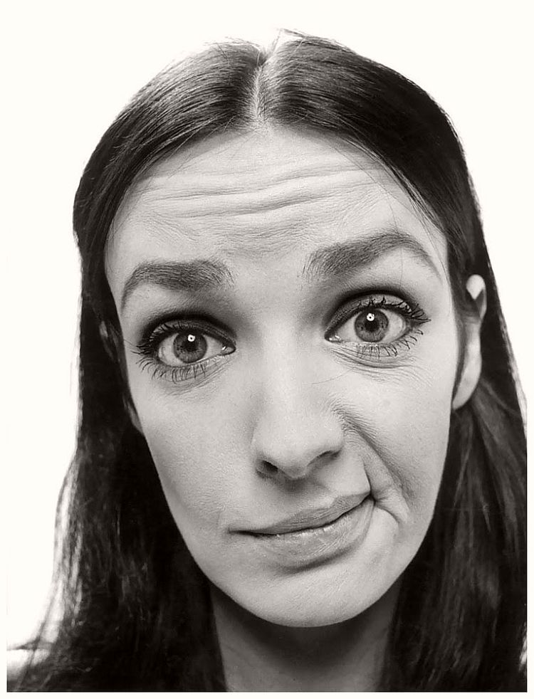 Marie Laforet - willy-rizzo-portraits-funny-faces-of-celebrities-1960s