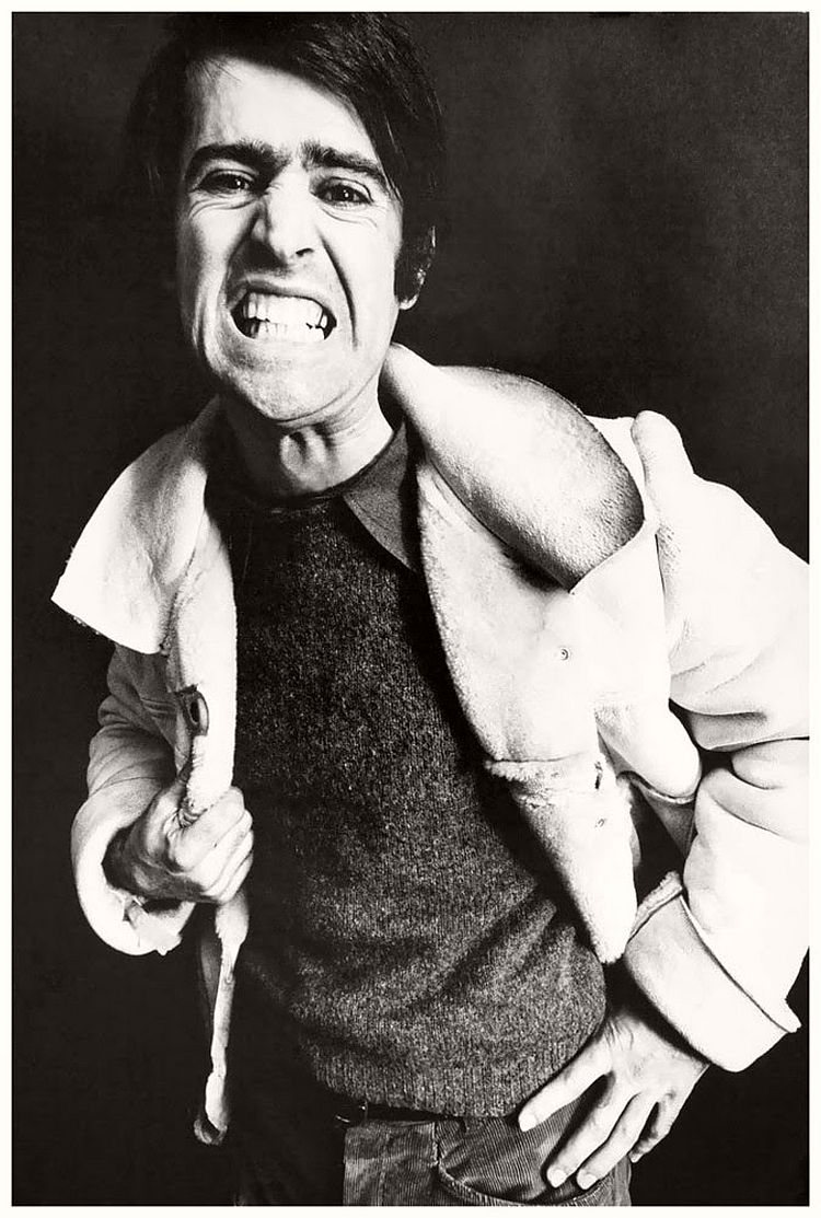 Martial Raysse - willy-rizzo-portraits-funny-faces-of-celebrities-1960s