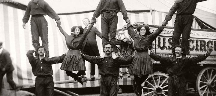 Vintage: Circus Performers in Strabane (1910-1911)