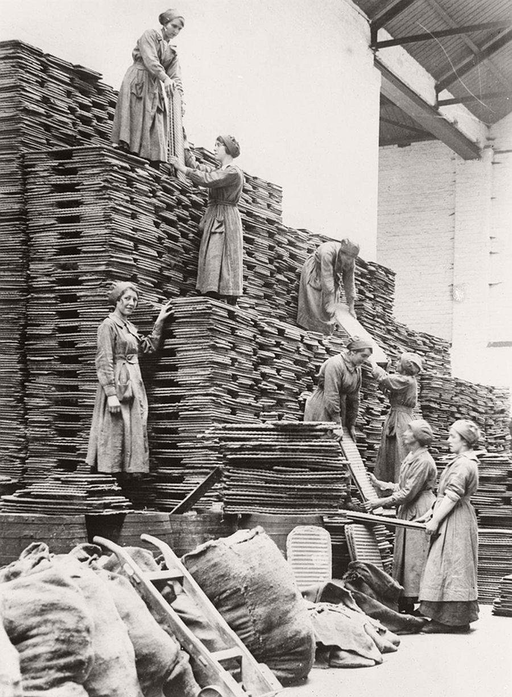 Vintage Women At Work During World War I Monovisions