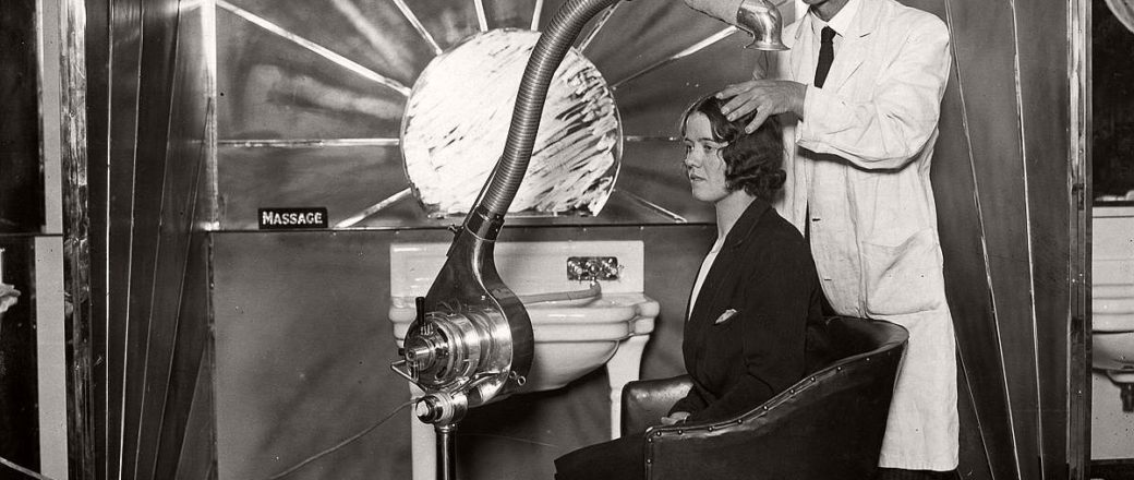 Vintage: Beauty Salons and Early Hair Dryers (1920s-1940s)