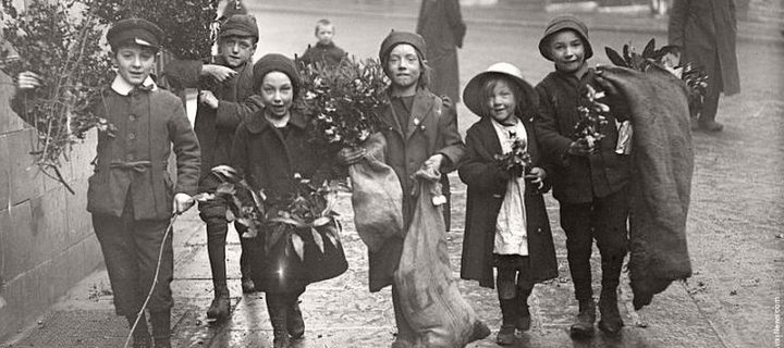 Vintage: Children Celebrating Christmas (1900s)