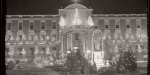 Vintage: Christmas decorations in Boston