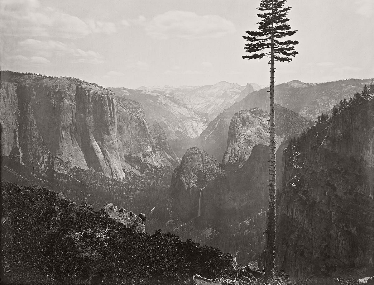 "Carleton Watkins (U.S.A., 1829-1916) The Yosemite Valley from the ""Best General View"" 1866"