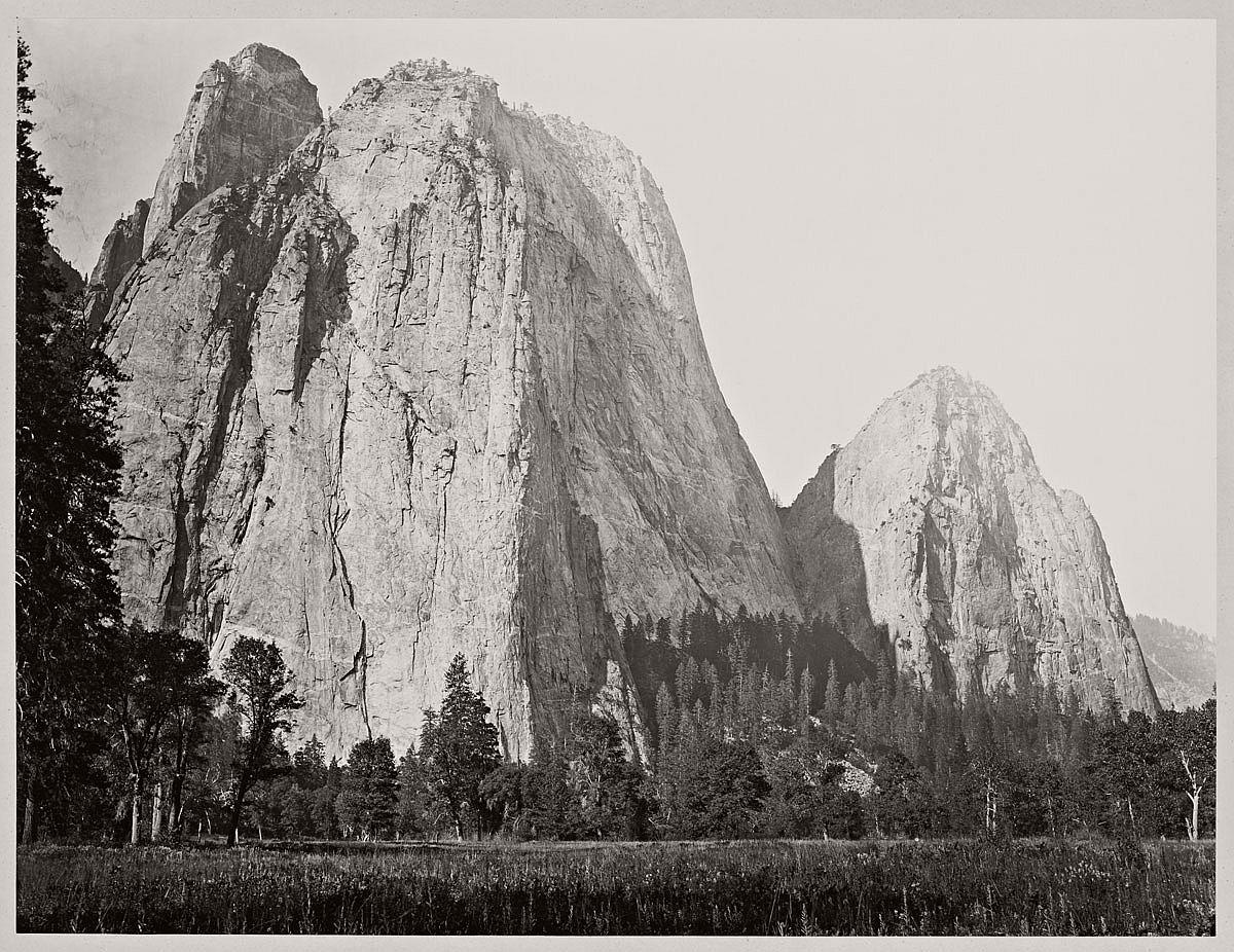 Carleton Watkins (U.S.A., 1829-1916) Cathedral Rocks, 2630 ft., Yosemite 1865-1866