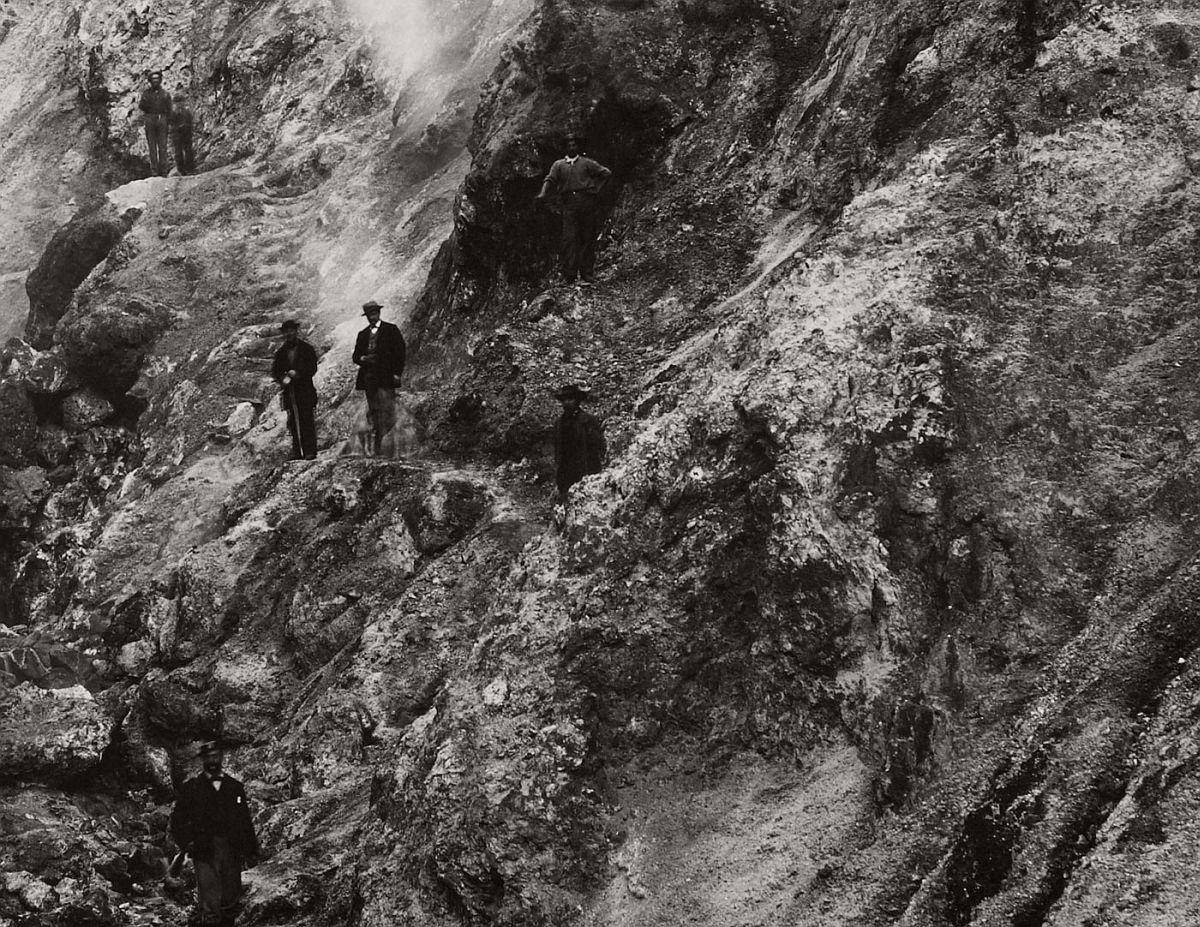 Carleton Watkins (U.S.A., 1829-1916) Devils' Cañon Geysers, Looking Up (detail) c. 1867