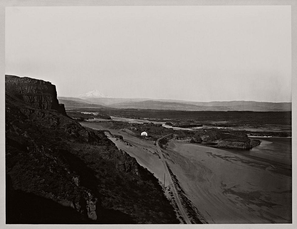 Carleton Watkins (U.S.A., 1829-1916) Mt. Hood and the Dalles, Columbia River 1867