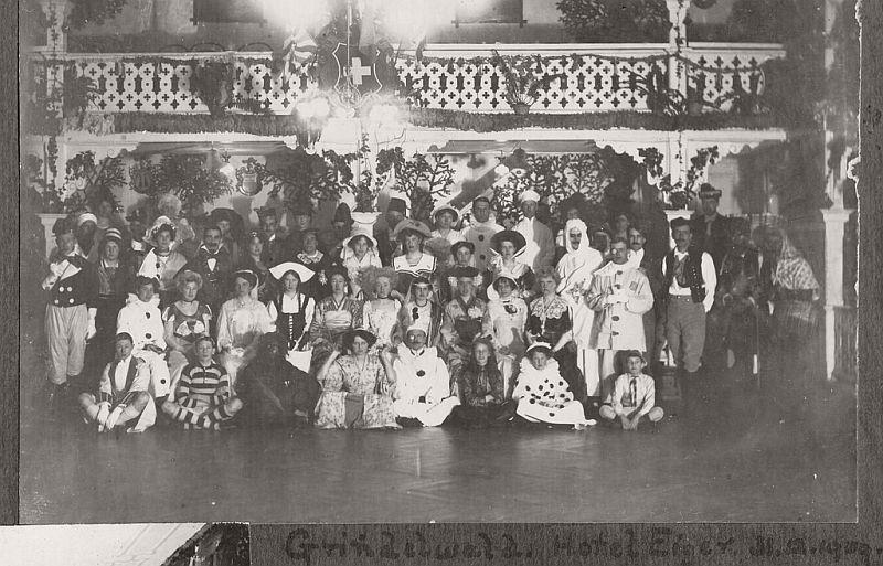 Friends on New Year's Eve, Grindelwald, Switzerland, 1909