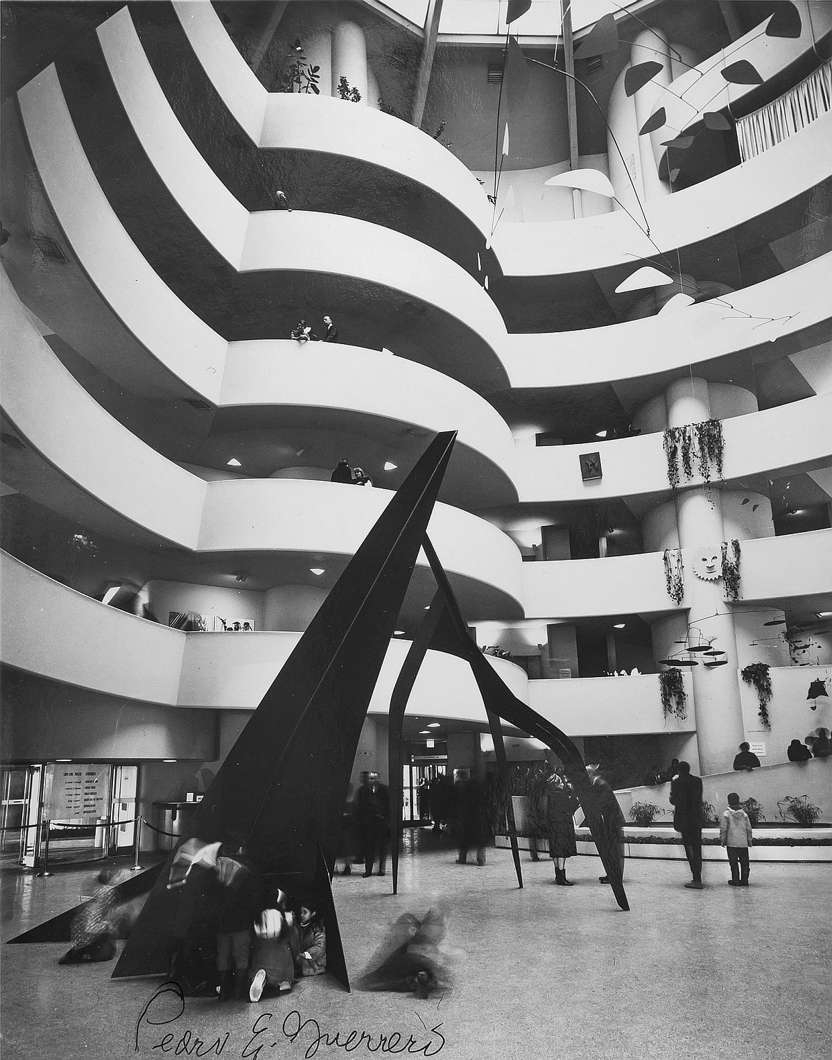 "Estate of Pedro E. Guerrero, Calder Retrospective at the Guggenheim with ""Guillotine pour huit"", 1964"