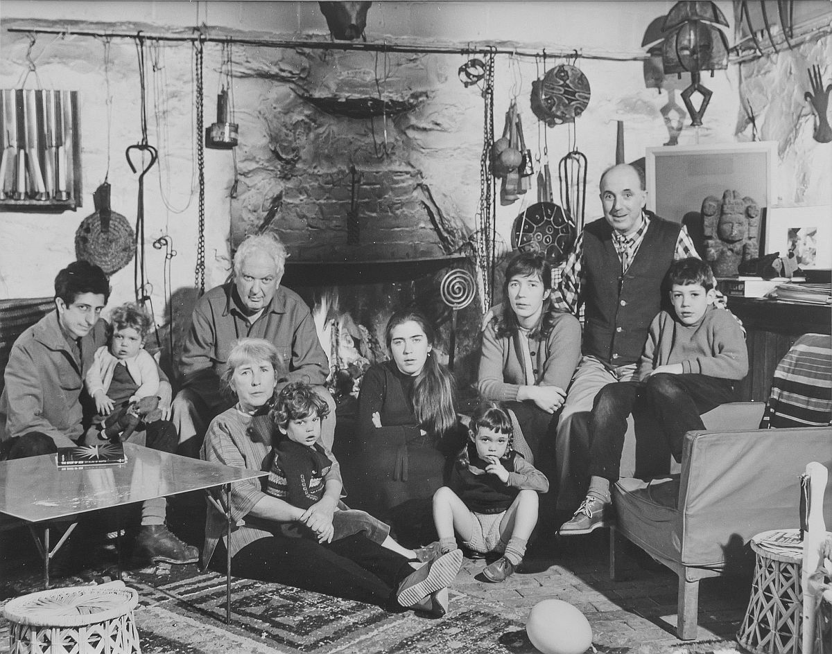 Estate of Pedro E. Guerrero, The Calder Family at Christmas, Roxbury, CT, 1965