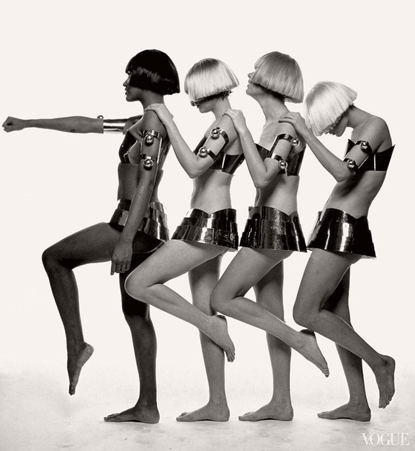 André Courrèges, Ensembles, photographed by Bert Stern for Vogue, 1969