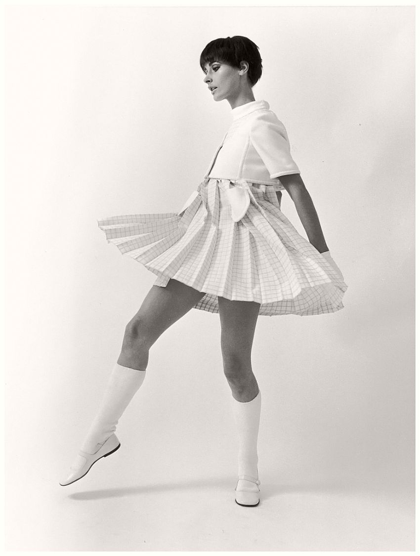 Astrid Schiller in André Courrèges Mini-Dress, photographed by F.C. Gundlach, 1965