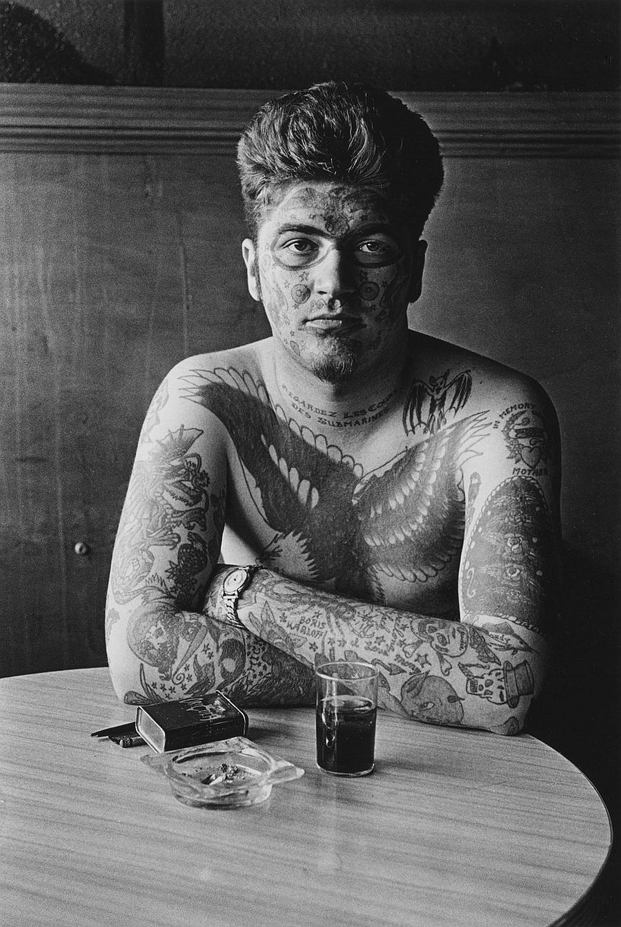 Diane Arbus, Jack Dracula at a bar, New London, Conn. , 1961
