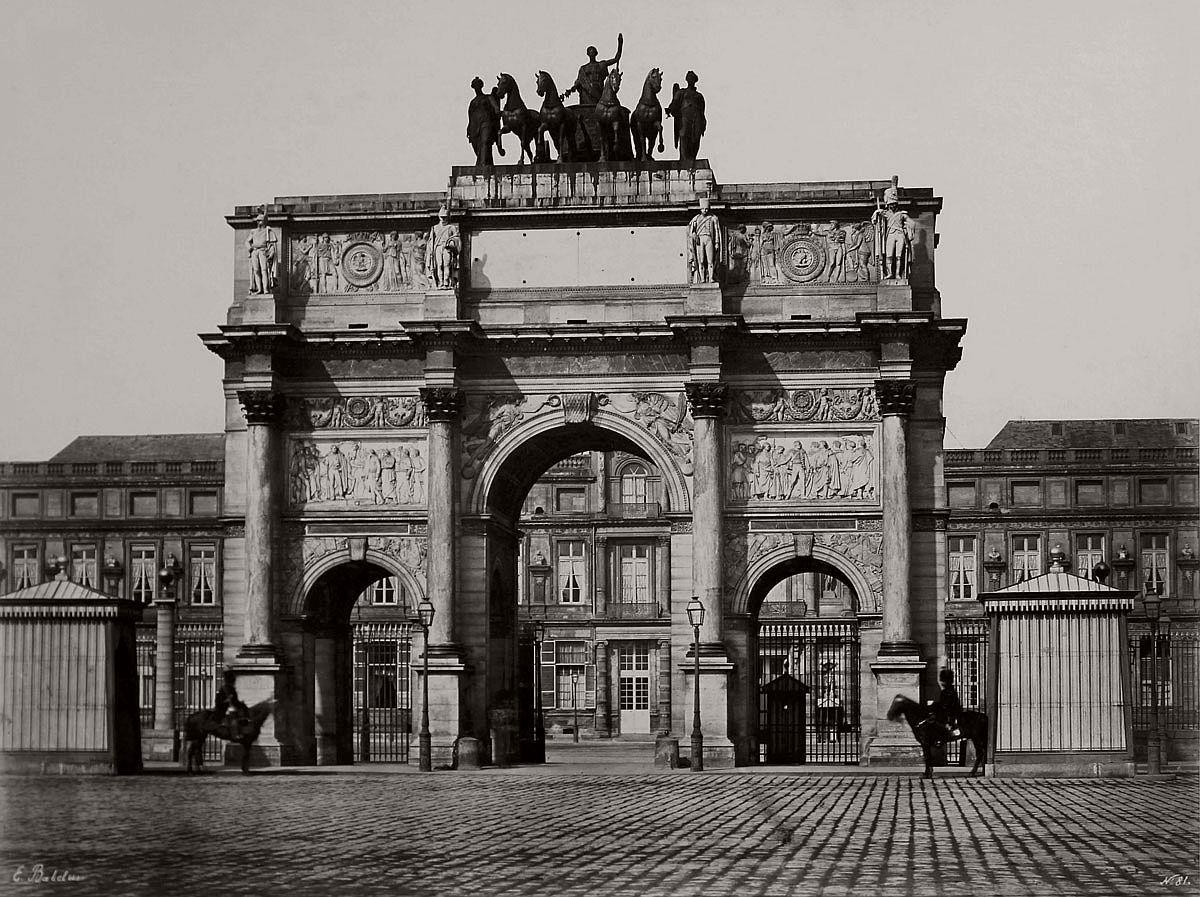 Edouard Baldus Arc de Caroussel c. 1853