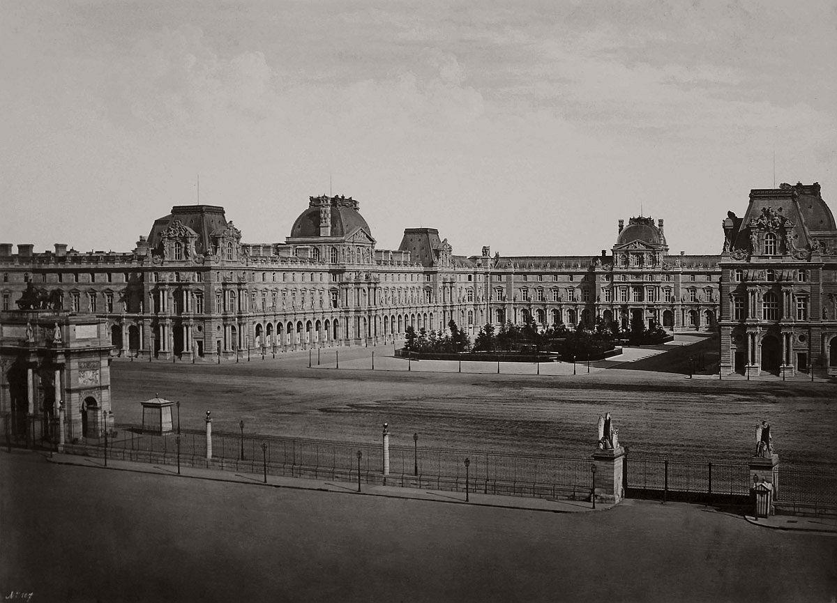 Edouard Baldus Le Nouveau Louvre c. 1857