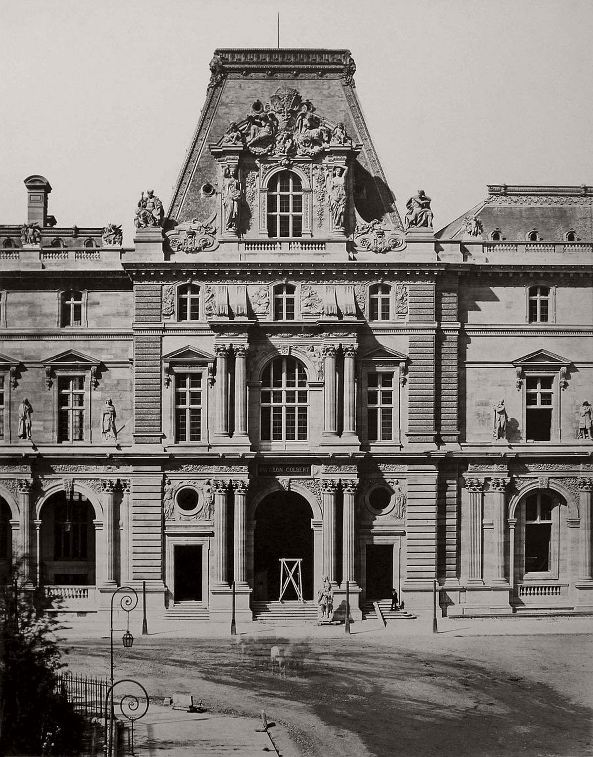 Edouard Baldus Pavillon Colbert, Nouveau Louvre, Paris c. 1855