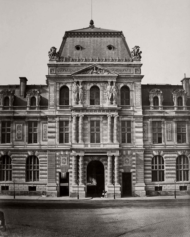 Edouard Baldus Pavillon de la Bibliotheque, Rue de Rivoli, Paris c. 1855