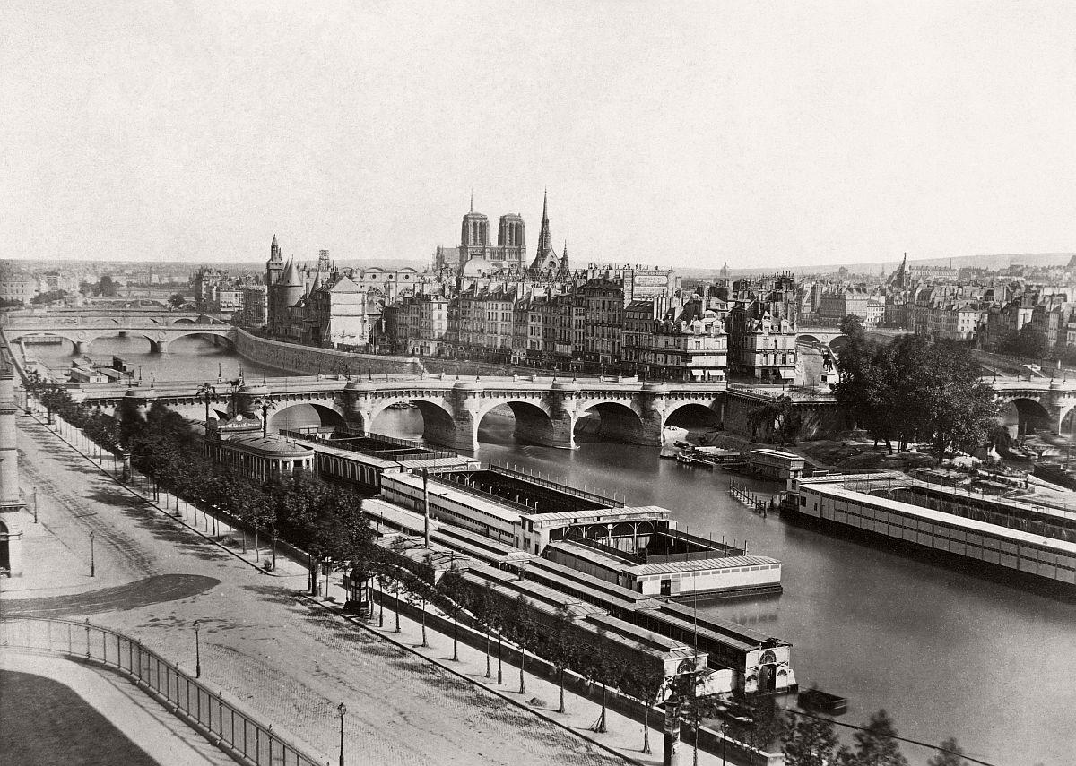 Edouard Baldus Vue generale de Paris pont neuf c. 1855
