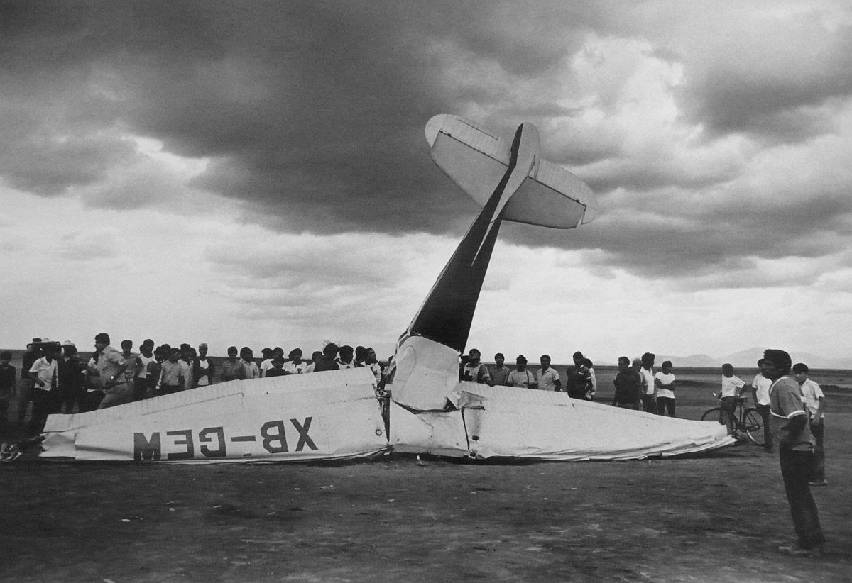 Instructor and his student killed when engine failed , 1970, © Enrique Meinides Enlarge