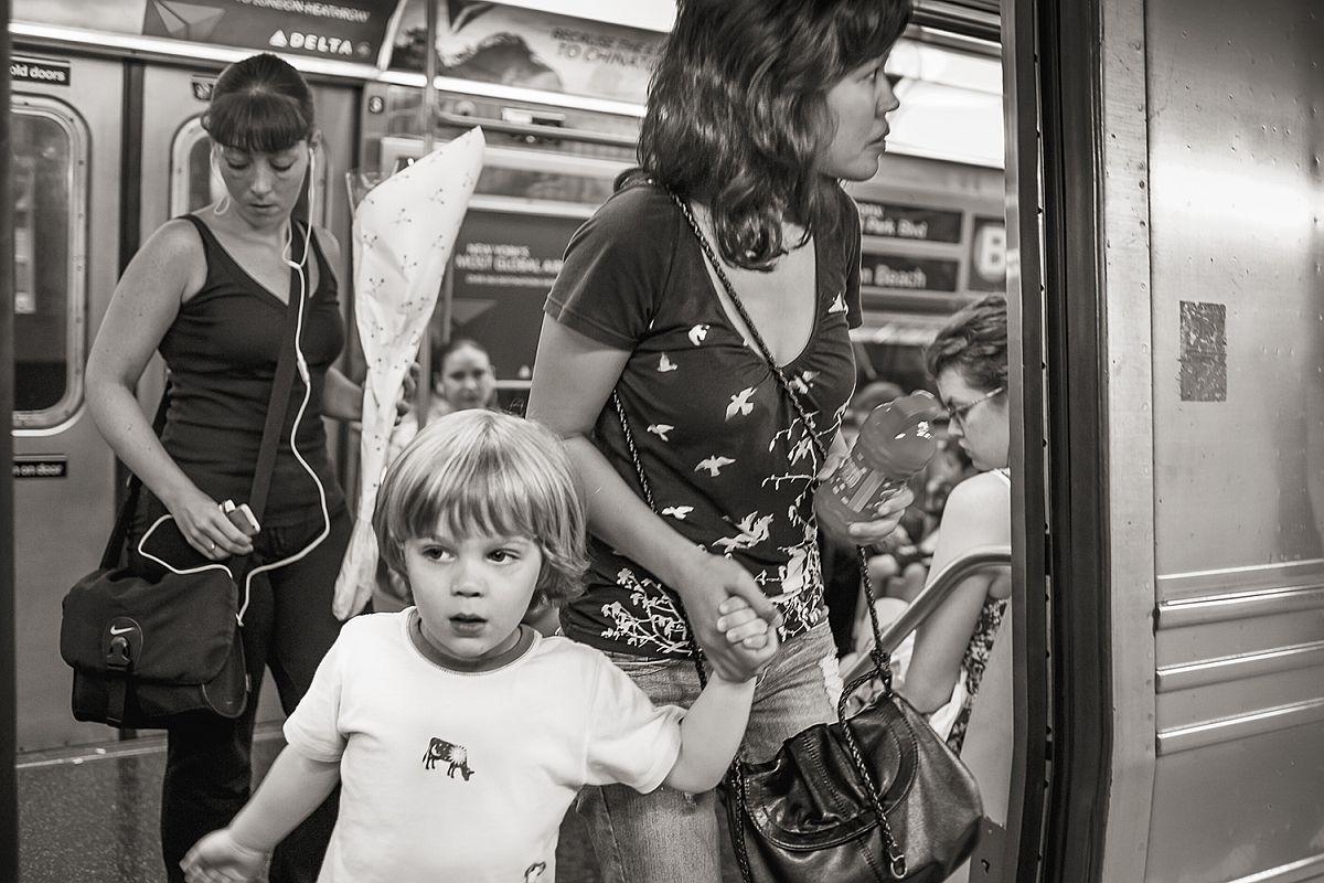 The B Train at 42nd St., Manhattan, 2009 © Stan Raucher