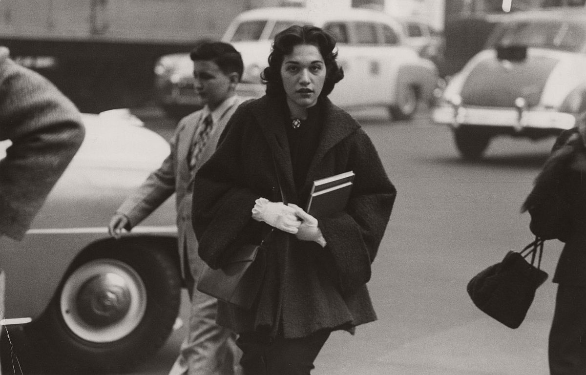 Woman Crossing Street, c.1954