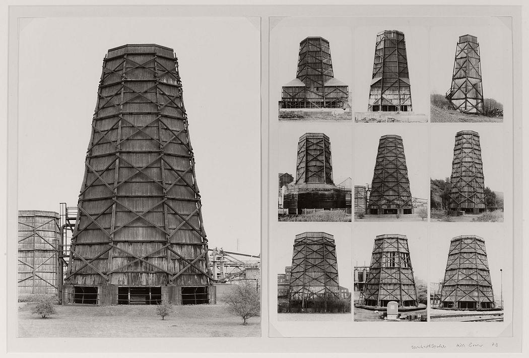 Bernd Becher (German, 1931–2007), Hilla Becher (German, 1934–2015). Cooling Towers. 1973. Gelatin silver prints, each 15 3/4 × 11 13/16″ (40 × 30 cm). The Museum of Modern Art, New York. Promised gift of Robert B. Menschel. © 2016 Estate Bernd and Hilla Becher