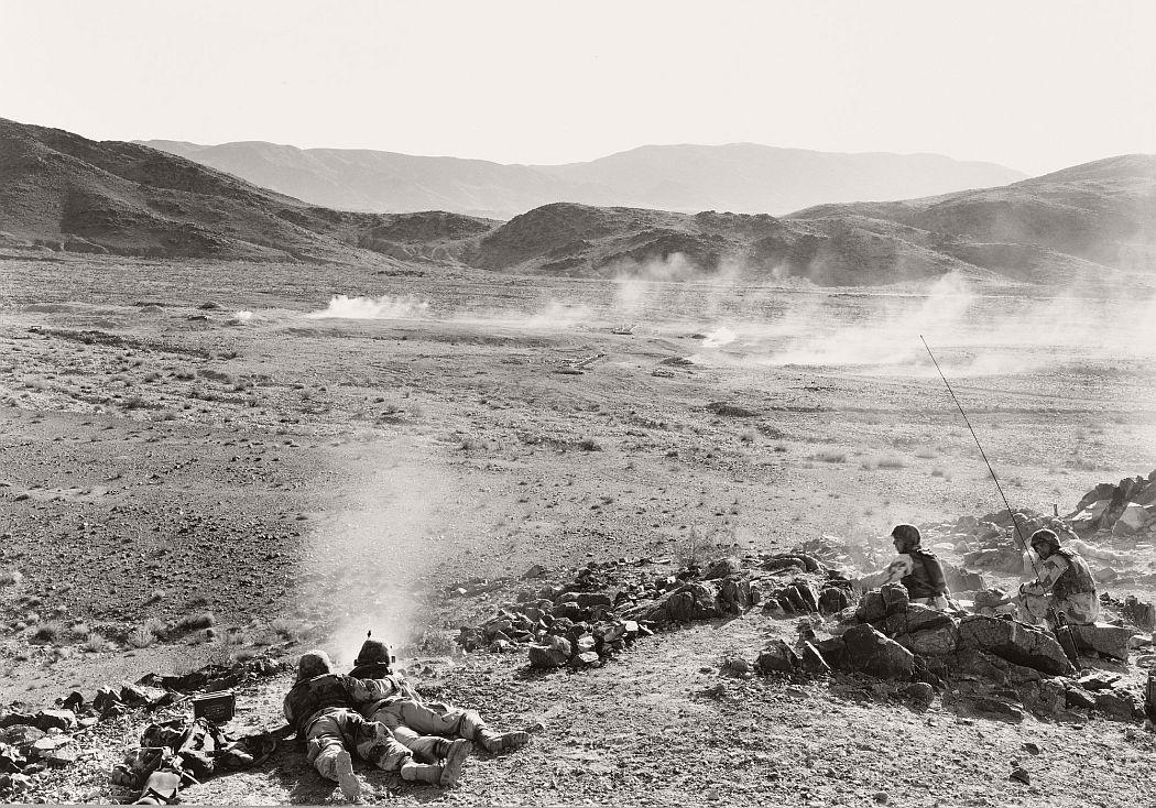 An-My Lê (American, born Vietnam 1960). 29 Palms: Infantry Platoon (Machine Gunners). 2003–04. Gelatin silver print, 26 1/2 × 38 1/16″ (67.3 × 96.7 cm). The Museum of Modern Art, New York. Robert B. Menschel Fund. © 2016 An-My Lê