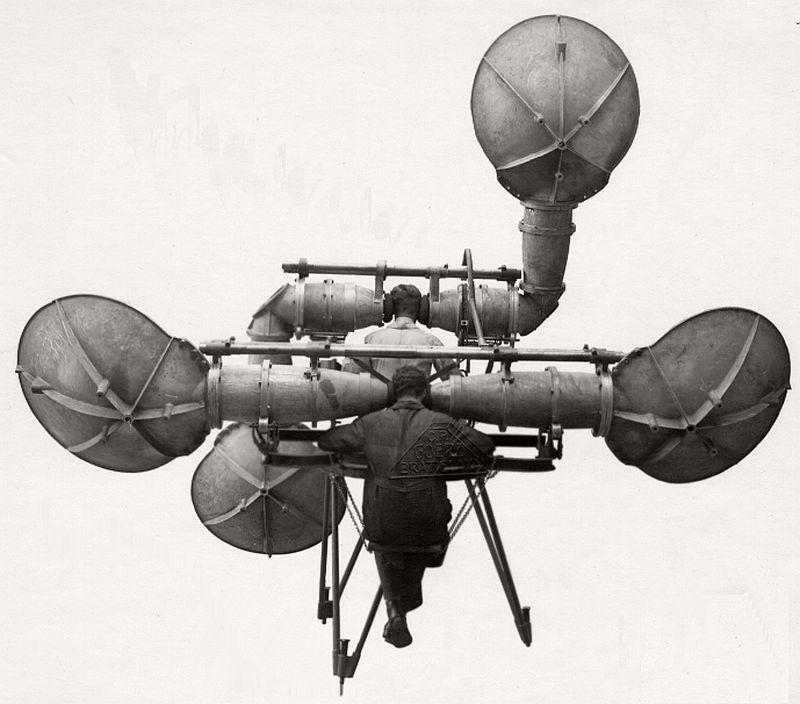 An early Goerz listening equipment with receiving shells