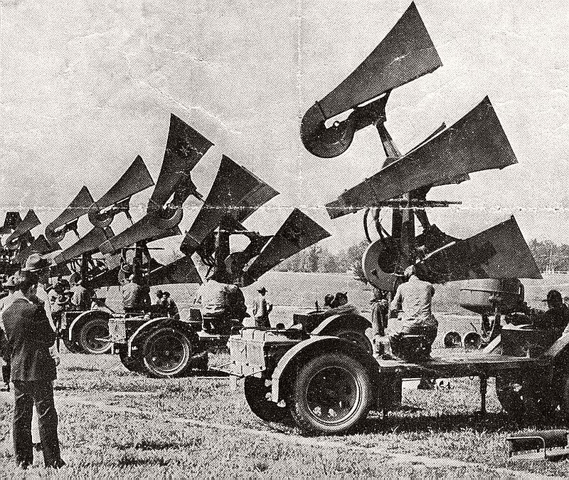Horn-like sound locators of the US Army