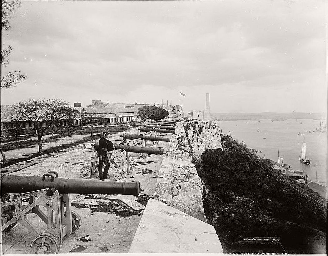 Parapet of Cabanas Castle, Havana, 1900