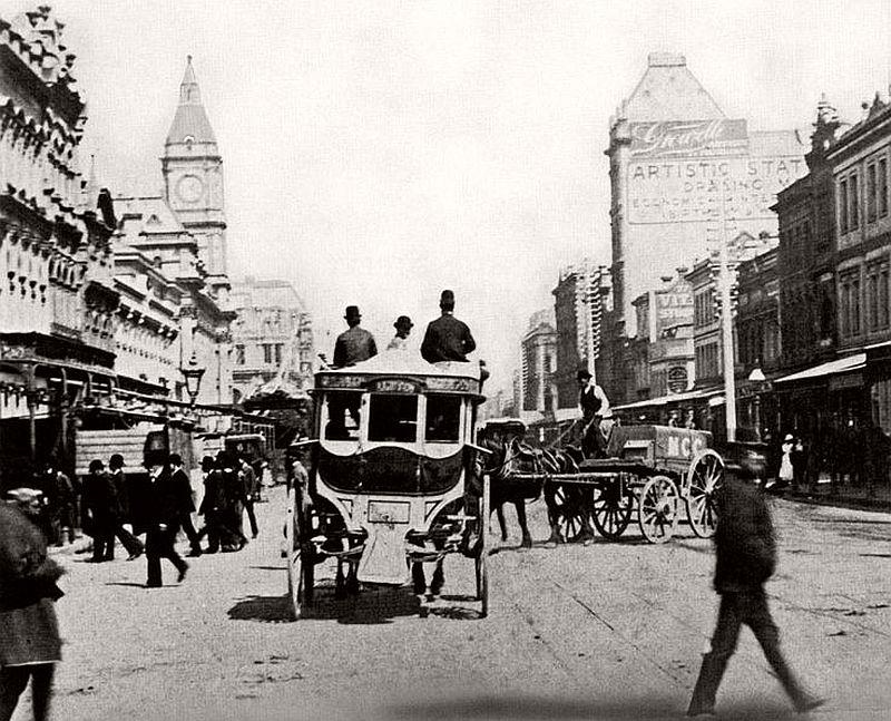Swanston Street, Melbourne, ca. 1890s