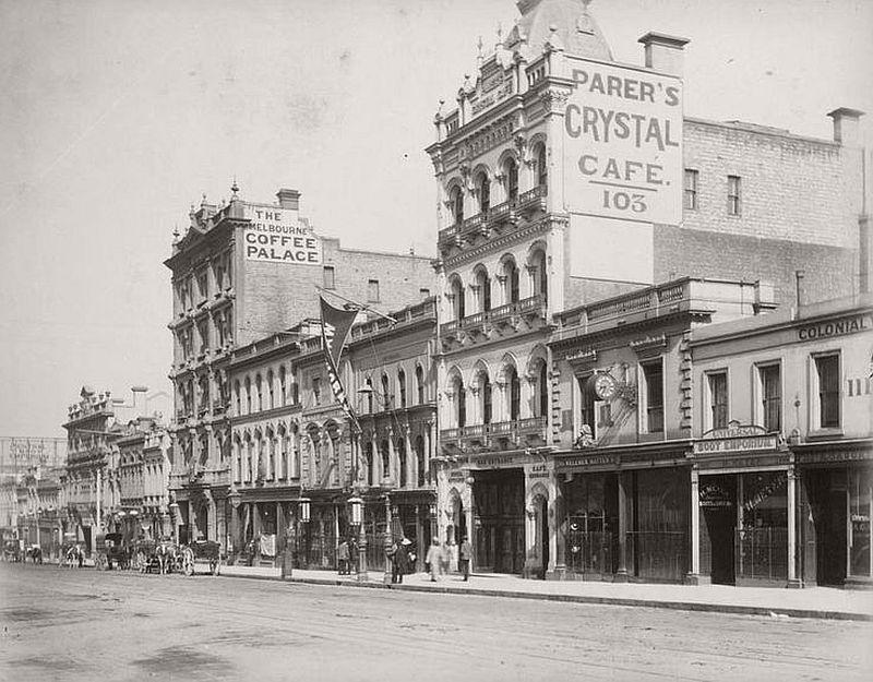 Bourke Street, Melbourne, 1888