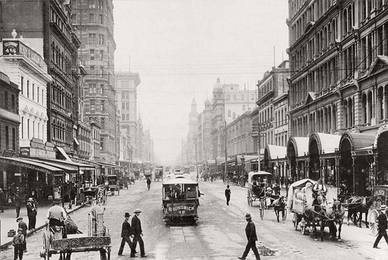 Elizabeth Street, Melbourneca, 1800s