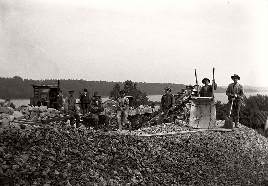 Stone crusher in Stjärneborg, 1914.