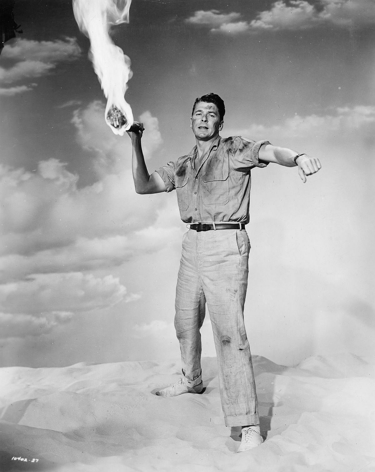 1953  Reagan poses in a promo still for Tropic Zone.  Image: Paramount Pictures/Getty Images
